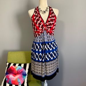 Laundry by Shelli Segal Mixed Pattern Dress C8